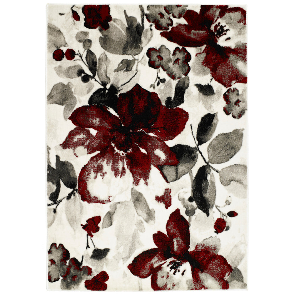 Watercolour Floral - Red