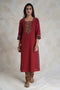 Rozana Kurta Set Deep Maroon (Set of 2)