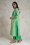 Yoke Kurta Parrot Green Turq (Set of 2)