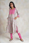 Banjara Kurta Set Cream Pink (Set of 2)