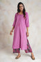 Embroidered Kurta Set Mauve (Set of 2) (4870898647087)