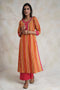 Rozana Kurta Set Pink Yellow (Set of 3)