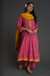 Yoke Kurta Pink Mustard (Set of 2) (4880514220079)