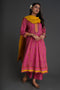 Yoke Kurta Pink Mustard (Set of 2)