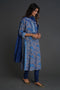 Rozana Kurta Grey Blue (Set of 3)