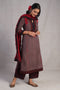 Adara Kurta Brown Maroon