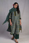 Anu Seri Kurta Bottle Green Indigo