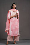 Light Pink Embroidered Yoke Kurta