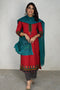 Embroidered Kurta Red