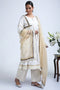 White Beige Side Chunnat Kurta