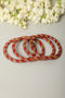 Maroon Golden Lac Bangles (Set of 4)