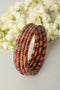Red Golden Lac Bangles (Set of 4)