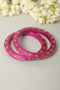 Pink Lac Bangles (Set of 2)