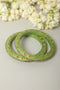 Green Lac Bangles (Set of 2)