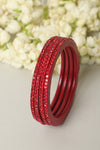 Red Lac Bangles (Set of 4)