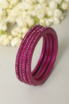 Pink Lac Bangles (Set of 4)