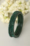 Green Lac Bangles (Set of 4)