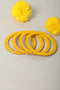 Yellow Lac Bangles (Set of 4)