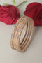 Cream Lac Bangles (Set of 4)