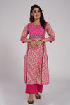 Yoke Afreen Kurta Light Pink (6543807053871)