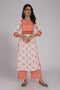 Yoke Kurta Cream Orange (6544409264175)