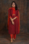Yoke Kurta Red Orange