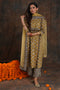 Afreen Kurta Ochre Black
