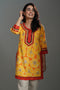 Yellow Orange Rozana Short Kurti