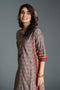 Anu Seri Grey Wine Kurta