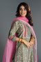 Seri Embroidered Teal Pink Kurta