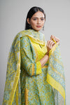 Seri Green Yellow Kurta