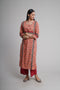 Afreen Peach Blue Kurta