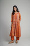 Banjara Orange Red Kurta