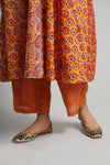 Rust Orange Plain Pants