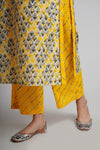 Yellow Grey Printed Pants (4651362910255)