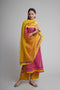 Afreen Pink Yellow Kurta