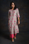 Grey Floral Embroidered Kurta