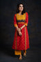 Afreen Red Bandhej Kurta (4770050834479)
