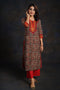 Black Beige Embroidered Kurta