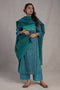 Afreen Silk Kurta Sea Green Blue