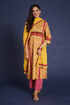 Afreen Kurta Yellow Mauve (4859938734127)