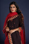 Embroidered Kurta Black Maroon (4859945123887)