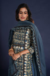 Afreen Kurta Light Indigo Ajrakh