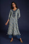 Anu Ajrakh Kurta Light Indigo (4859949285423)
