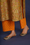 Mustard Orange Printed Booti Pants (4858175979567)