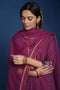 Mauve Embroidered Kurta