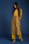 Seri Yellow Pink Embroidered Kurta