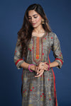 Grey Red Seri Anu Kurta