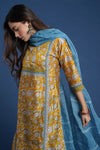 Afreen Yellow Blue Kurta