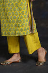 Lemon Green Embroidered Kurta